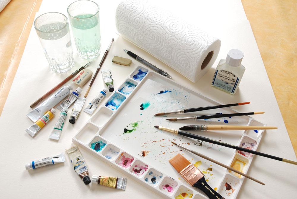 le matériel utiliser pour cette démonstration de peinture