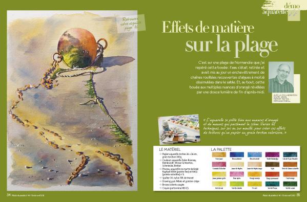 page intérieur du numéro 44 de plaisirs de peindre
