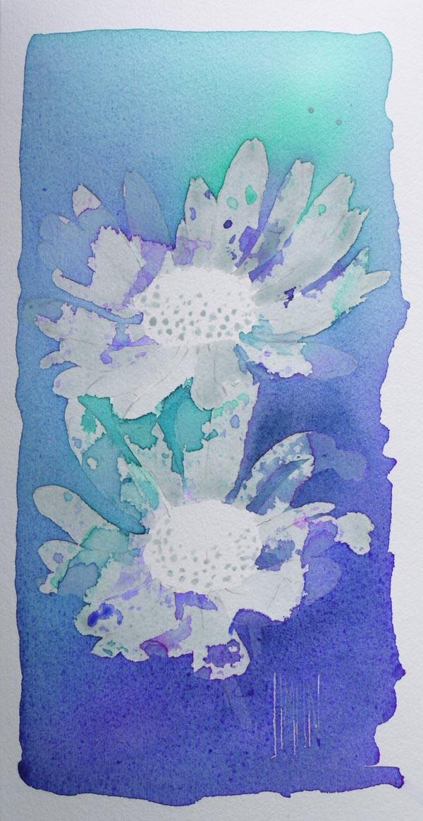 aquarelle art astuces drawing gum résultat couleurs