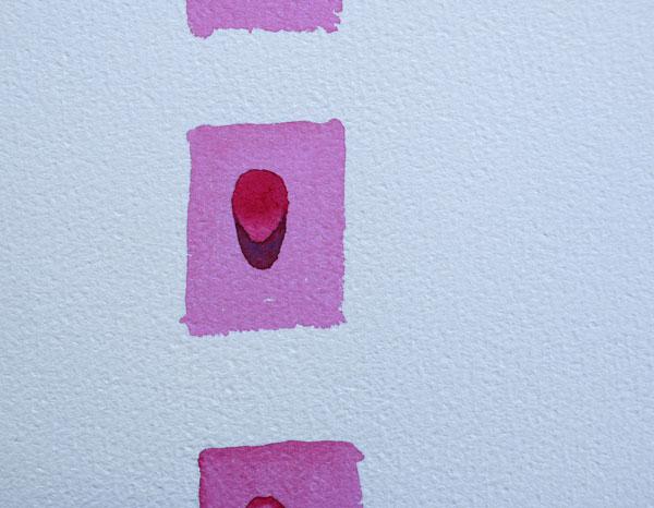 réalisation d'une goutte d'eau à l'aquarelle, mise en place de l'ombre