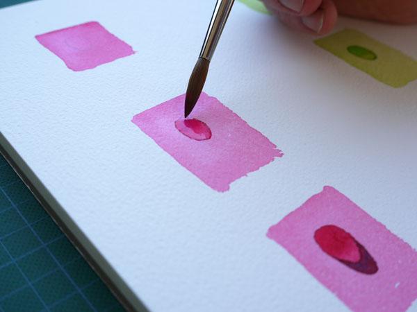 watercolor réalisation d'une goutte d'eau à l'aquarelle flaque d'eau