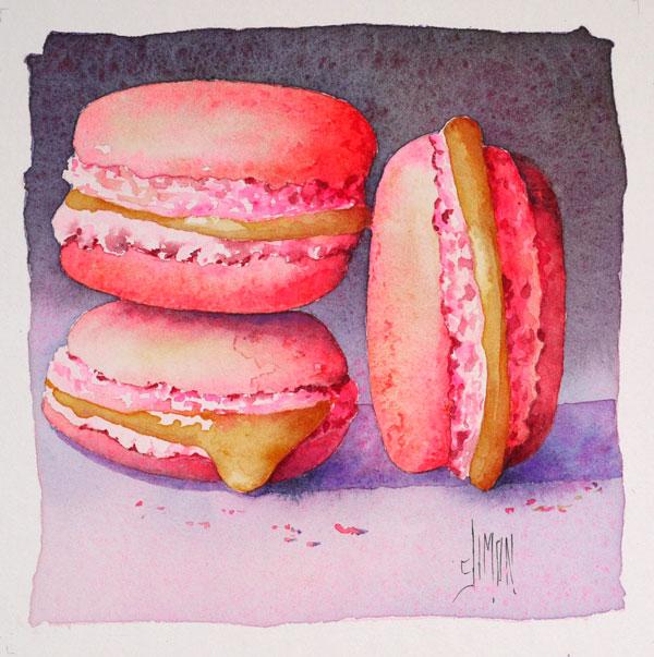 finale aquarelle macarons