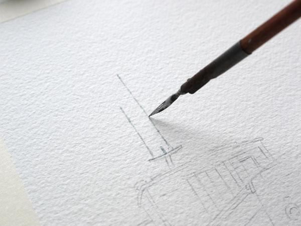 pose du drawing gum avec porte plume