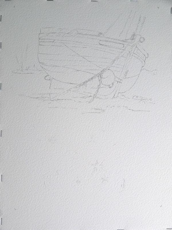 étape du dessin et du drawing gum