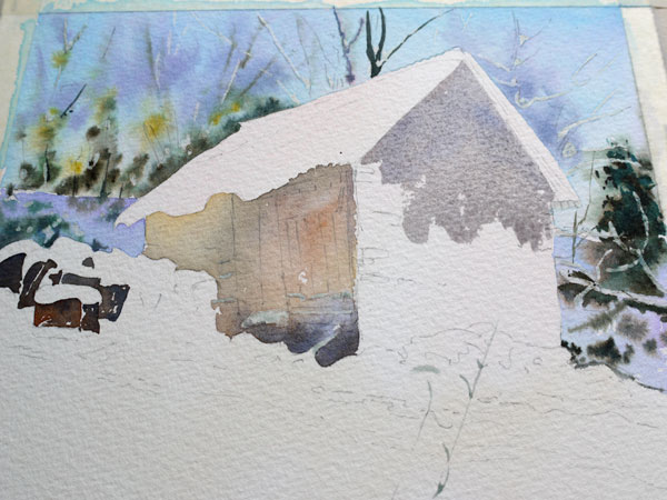 aquarelle-watercolor-baraque-neige-15