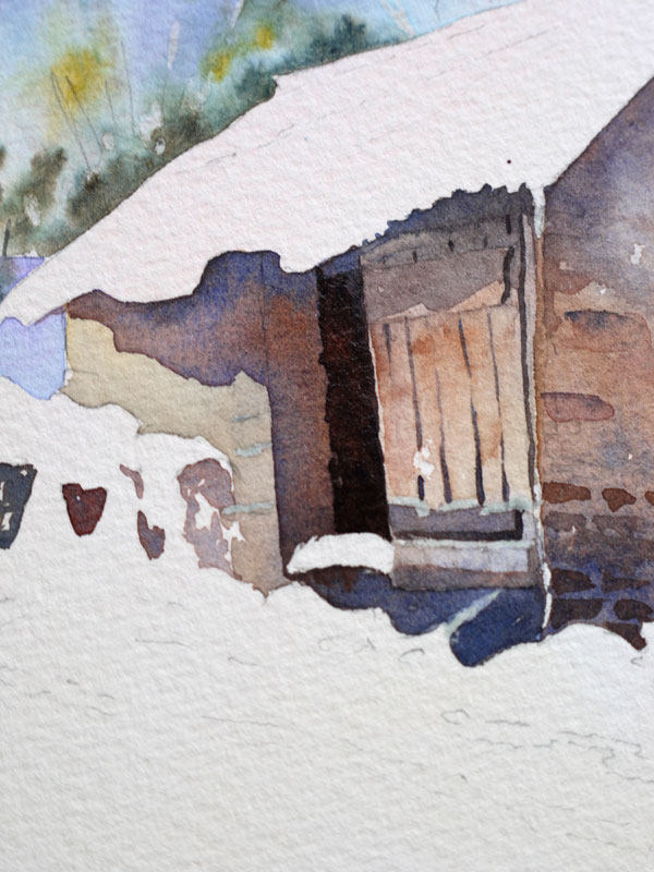 aquarelle-watercolor-baraque-neige-20