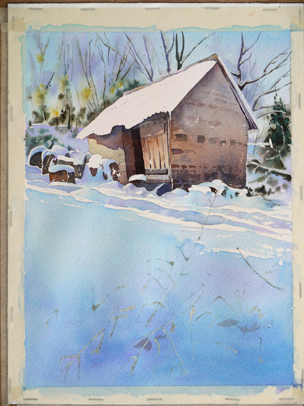 aquarelle-watercolor-baraque-neige-36