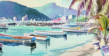thumbnail_aquarelle_watercolor-Philispburg-St-Martin